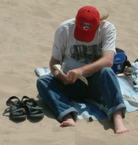 Yes, I spend a lot of time reading - even when I go to the beach