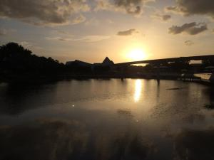 Sunset in Summer 2014 at Disney's Epcot in Florida.