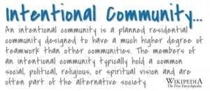 <br>The definition of Intentional Community
