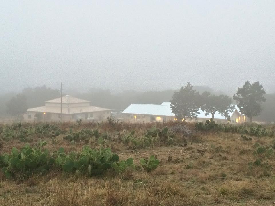 U BAR U Retreat Center - in the fog